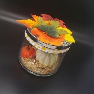 Fall Autumn Thanksgiving Pumpkin Decor Jar